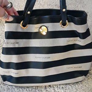 Tommy Hilfiger Striped Shoulder Bag